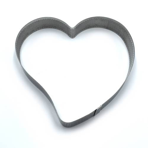 Heart-shaped perforated stainless steel cake rings