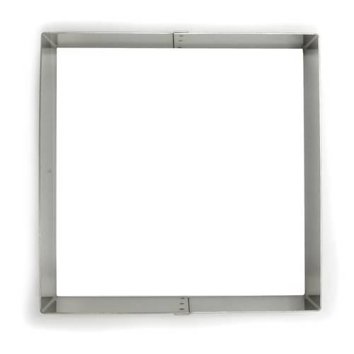 Quadratische Tortenringe aus Edelstahl