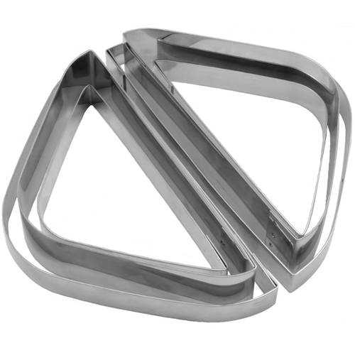 Set of modular cake rings for square desserts stainless steel