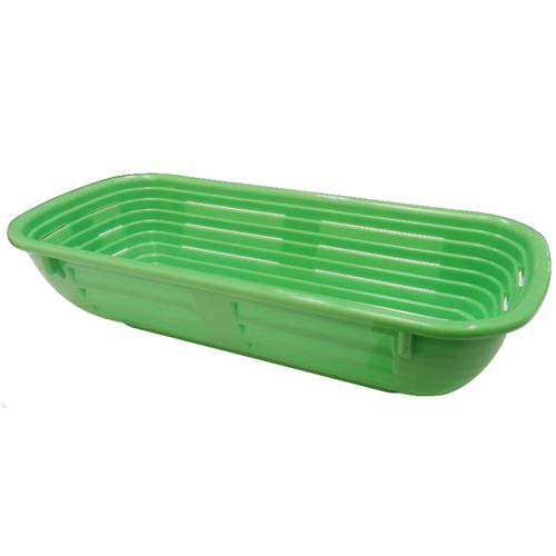 Rectangular bread proofing basket