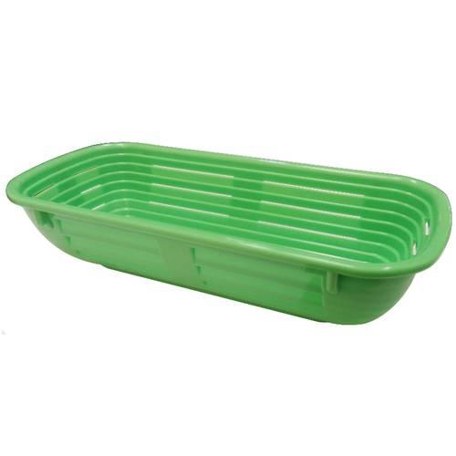 Cestino rettangolare in plastica per la lievitazione