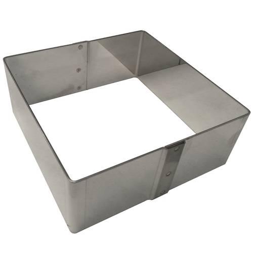 Quadratischer Nudelbecher aus Edelstahl