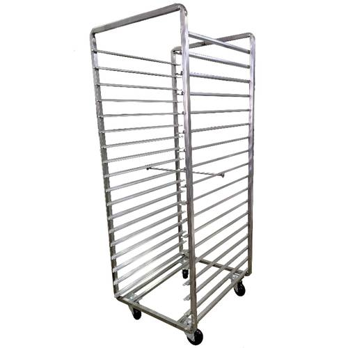 Tray trolley made of stainless steel AISI 430