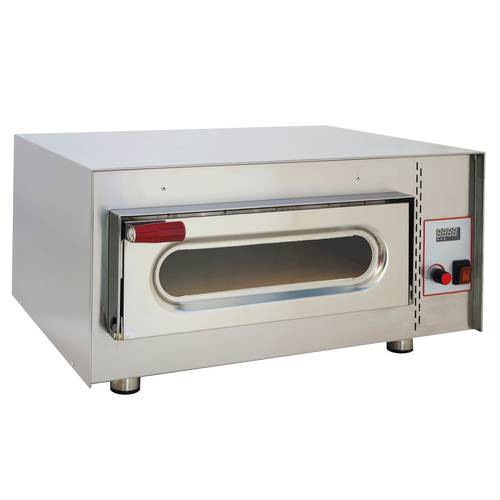 Digital pizza oven with glass door and 41x36 cm chamber