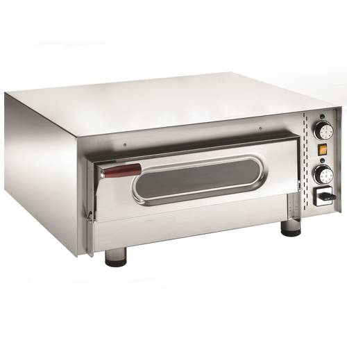 Electric pizza oven with glass door and 51x51 cm chamber
