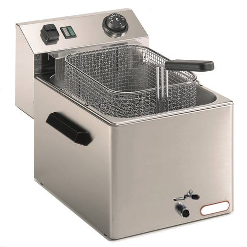 Commercial deep fryer 7 liters with drain tap