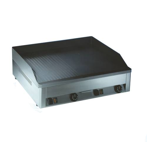 Double electric fry top striped/smooth stainless steel