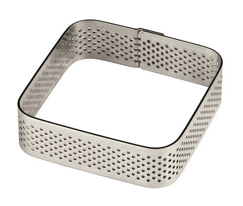 Square perforated stainless steel cake ring