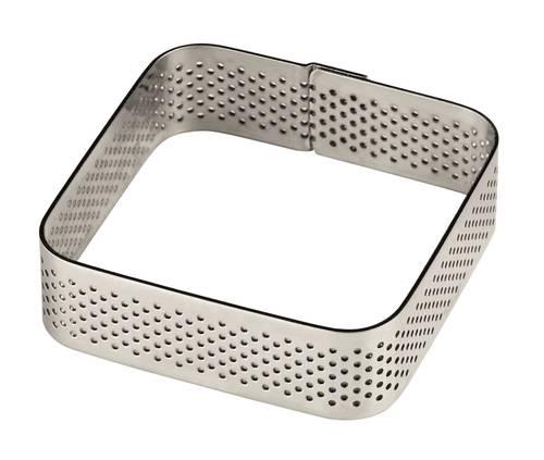 Vierkant-Lochringe aus Edelstahl für Torten