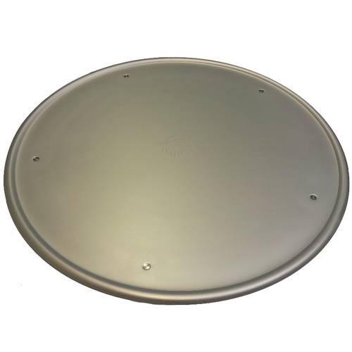 Aluminium pizza tray with rim and feet