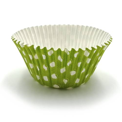 Polka dot pastry paper cups
