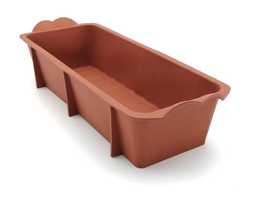 Silicone loaf tin with fluted bottom