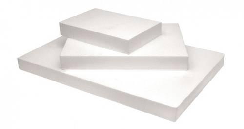 Rectangular polystyrene cake dummies