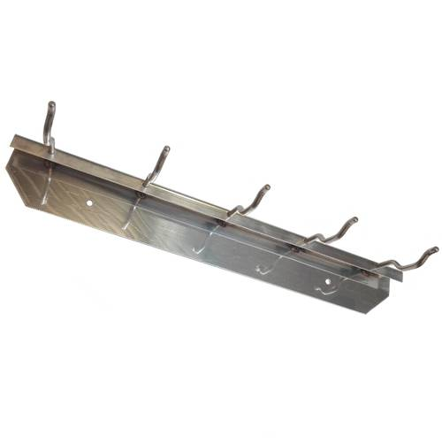 Stainless steel rack with hooks