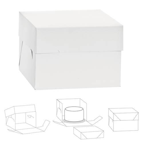 Scatole per torte in cartone con coperchio