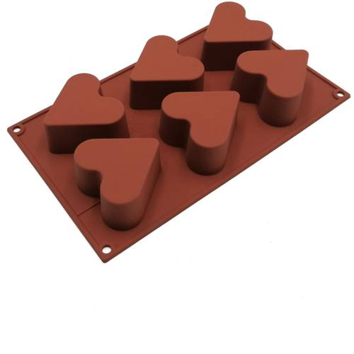 Silicone moulds for heart-shaped cakes