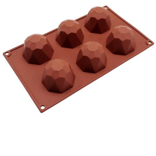 Silicone moulds for diamond-shaped cakes