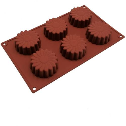 Silicone moulds for floral-shaped cakes