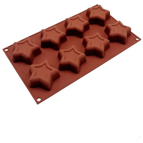 Silicone moulds for star-shaped cakes