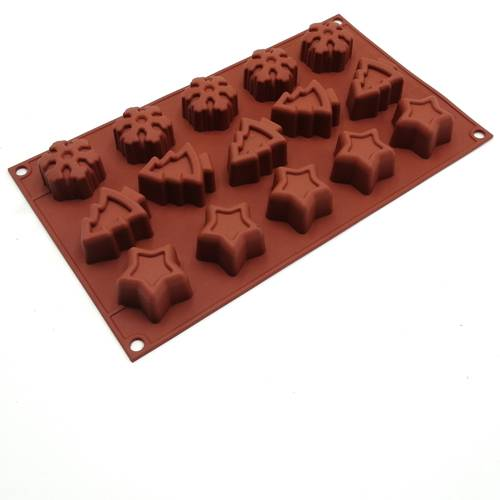 Silicone moulds for Christmas cakes