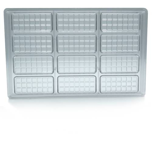 Polycarbonate mould for 12 chocolate bars