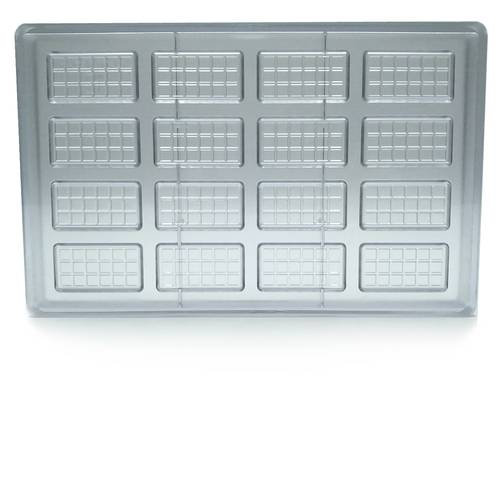 Polycarbonate mould for 16 chocolate bars