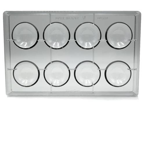 Polycarbonate mould for 8 chocolate pralines