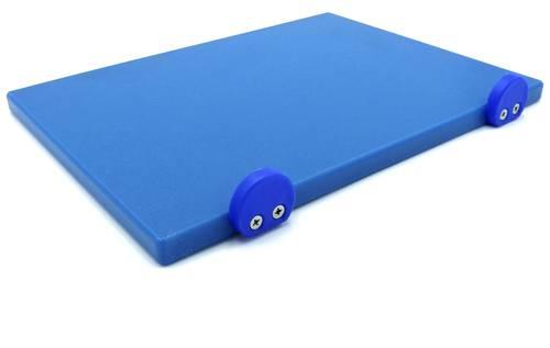 Tagliere in polietilene con fermi blu 30x40 cm