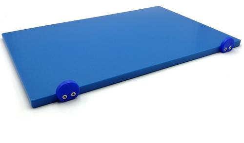 Blue polyethylene cutting board with stoppers 60x40 cm