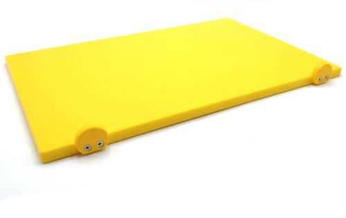 Tagliere in polietilene con fermi giallo 60x40 cm