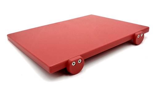 Tagliere in polietilene con fermi rosso 30x40 cm
