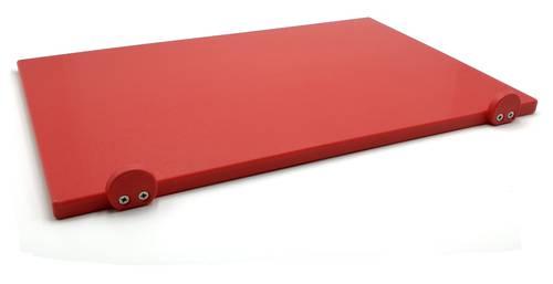 Tagliere in polietilene con fermi rosso 60x40 cm