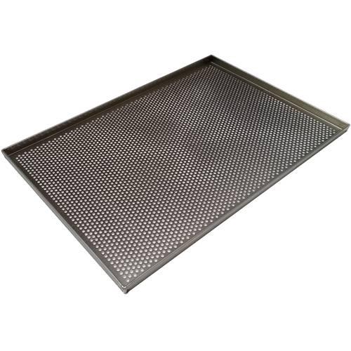 Teglia da forno forata in alluminio cm 60x40 diametro foro mm 5.