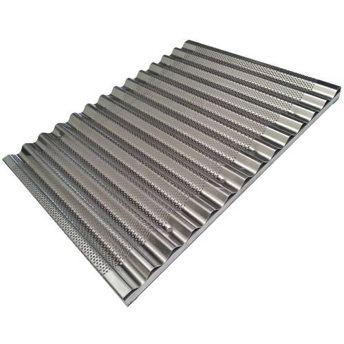 Teglia da forno per grissini forata in alluminio cm 30x40