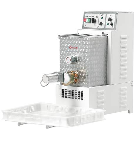 Macchina elettrica per pasta fresca produzione oraria 8 kg capacità 5 kg e coltello elettronico