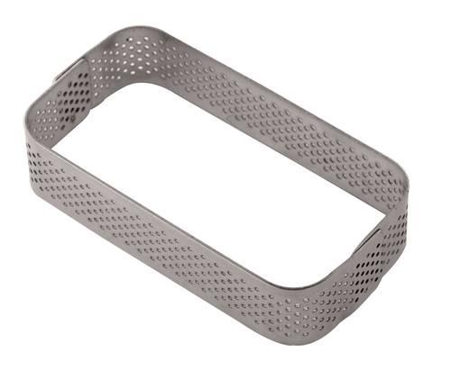 Rectangular perforated stainless cake rings