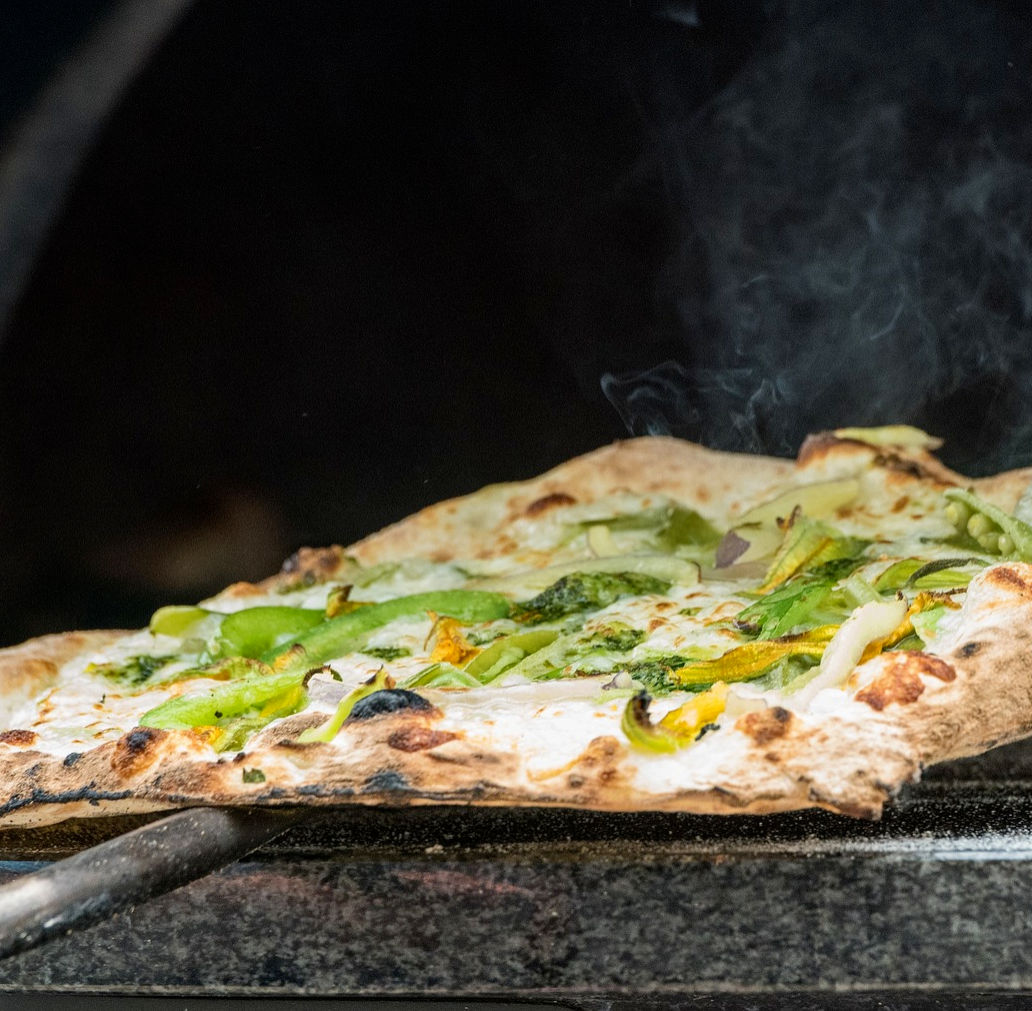 Your dough cooked in the electric pizza oven